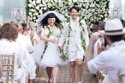 Beth Ditto se casa con un vestido de novia de Jean Paul Gaultier