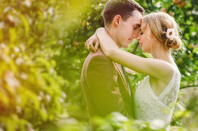 A D-I-Y wedding: Gabija and George's gorgeous initmate garden wedding!