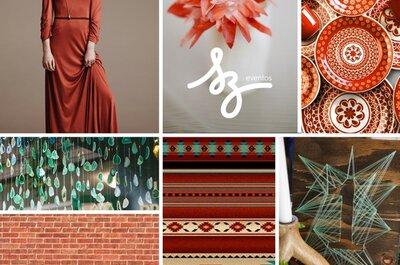 Rojo con tintes étnicos: Una inspiración para tu boda que te hará viajar a destinos mágicos