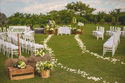 Una boda al mejor estilo europeo, pero en Colombia