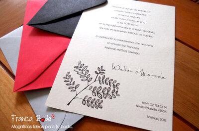 Invitaciones de boda con detalles elegantes