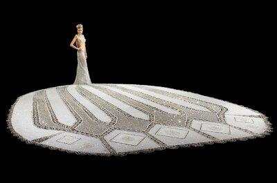 Así luce el vestido de novia más pesado del mundo: 180 kilos de estilo, glamour y detalles preciosos