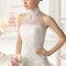 Hochzeits-Kleid: Brautkleid mit geschlossenem Halsausschnitt