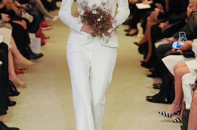 ¡Trajes de novia con pantalón 2016! Descubre lo mejor de la moda nupcial