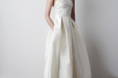 O vestido de noiva certo para vossa cerimónia civil.