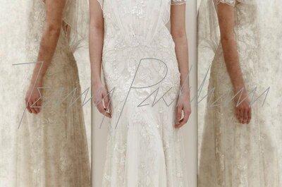 Vestidos de novia con mangas cortas de moda en 2013