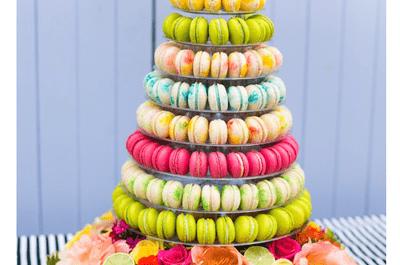 Macarons, un postre de boda ultra colorido y en tendencia ¡Deliciosos!