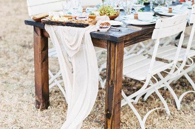Lo más nuevo para bodas 2016: Caminos de mesa con encantadores textiles