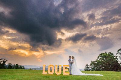 Bruna & Bruno: casamento rústico chique incrível ao ar livre em São Paulo