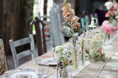 Mesas corridas: Una tendencia para las bodas 2013
