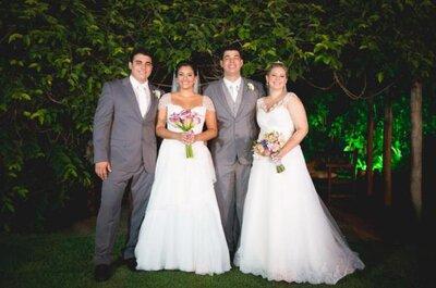 Casamento duplo: amigos e irmãos em uma linda festa no Rio de Janeiro