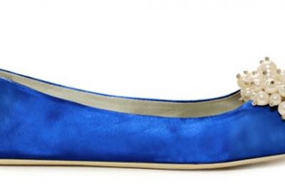 Chaussures de mariée bleues Kate Spade 2013