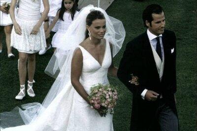 Conoce los detalles de los dos vestidos de novia de Carla Goyanes