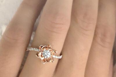 30 hermosos anillos de compromiso poco convencionales: Diseños únicos para enmarcar tu amor