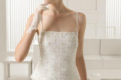 Preciosos vestidos de novia con escote cuadrado: Prepárate para verte como una reina