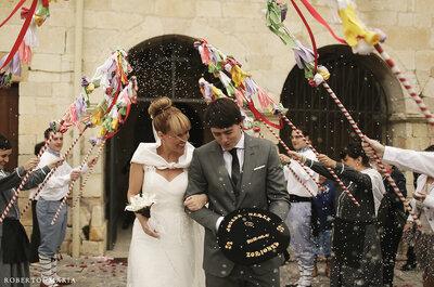 Selección de fotos de boda con toques regionales