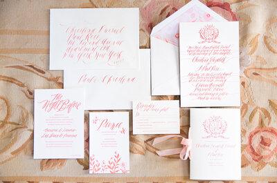 El toque de rosa ideal para tus invitaciones de boda