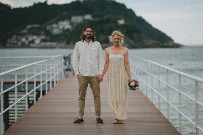 La boda íntima de dos surferos en Donostia: Jess y Blain