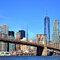 World Trade Centre con el puente de Brookling, Nueva York.