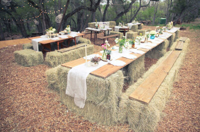 5 consejos para una decoración campestre en tu boda: ¡utiliza fardos de paja!