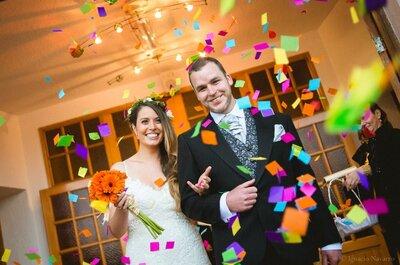¡5 grandes ideas para cambiar la tradición de los novios a la salida de la ceremonia!