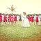 32. Nayeli y Juan José con todos los miembros del cortejo en su boda