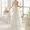 Hochzeits-Kleid: Brautkleid mit Rückenteil aus Tüll und Spitze