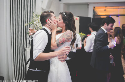 Bárbara & Fabiano: casamento vintage em branco & preto 100% personalizado!