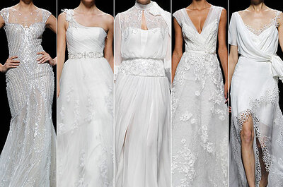 Pronovias 2013 Wedding Dresses: Sparkles, Florals and Sheer