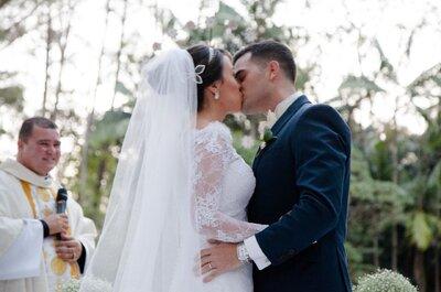 Casamento na fazenda de Karen e Gabriel: cerimônia tradicional e super romântica!
