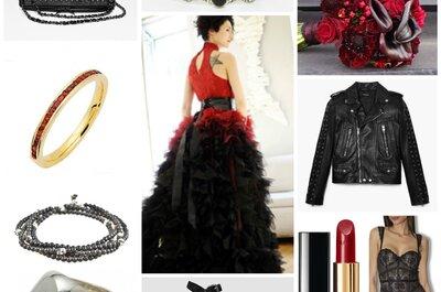 Look pour une mariée gothique : une robe sensationnelle et ses 10 accessoires