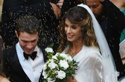 Elisabetta Canalis ha detto sì con un abito firmato da Alessandro Angelozzi Couture