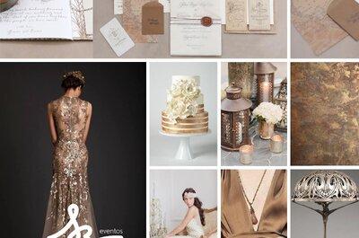 Cómo decorar una boda con el color bronce: La tendencia más sofisticada para 2016