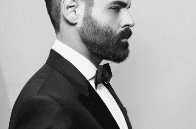 Pan Młody z brodą! Seksowny look Pana Młodego na weselu!