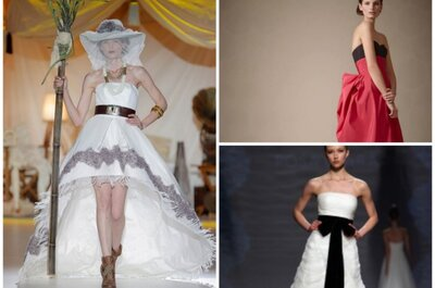 Bekennen Sie Farbe! - Umwerfende Brautkleider mit farblichen Akzenten