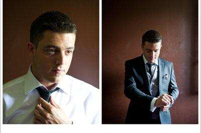 Trajes de novio oscuros de bodas reales