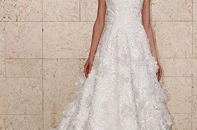 Oscar de la Renta Fall 2012 Bridal Collection of Romantic & Ruffled Wedding Dresses