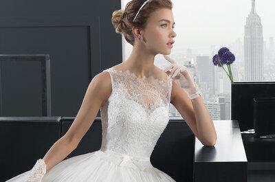 Sofisticação e romantismo com ar urbano: vestidos de noiva coleção Two da Rosa Clará 2015