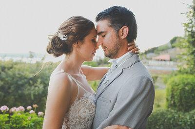 La boda de Andrea y Gustavo: Amor eterno, sonrisas, ¡y unos zapatos de novia multicolor!