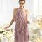 Vestido lila corto con inspiración charlestón para damas de boda