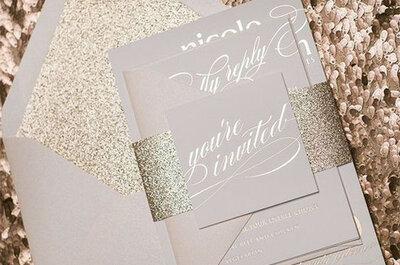 Lentejuelas, brillo y resplandor. ¡Sorprende a todos con un matrimonio glitter!
