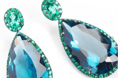 ¿Algo azul para tu boda? lleva joyas color azul turquesa