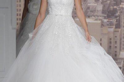 Pedrería, blanco y fantasía: Vestidos de novia primavera 2015 de Rosa Clará