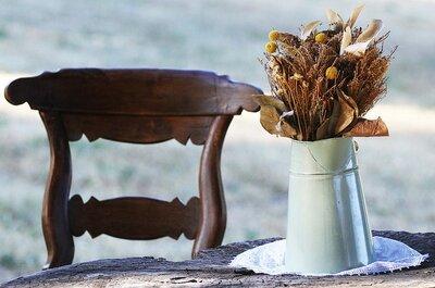 Ideas atractivas para incorporar jarras y jarrones a tu boda