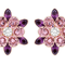 Unos pendientes con cristales en color rosa y púrpura harán que tu mamá se vea divina - Swarovski