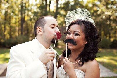 Bigotes y labios de adorno para tu boda