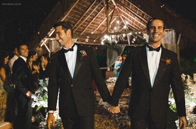 Roberto e Edouard: casamento no campo une Brasil e França em uma festa personalizada ao máximo!