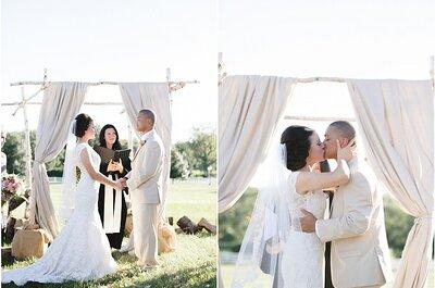 Decoração original para o altar do casamento