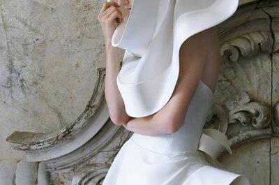 Quando l'eleganza sfida il design: ecco un abito da sposa con cappuccio