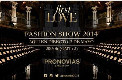 Mirá en directo el desfile con la nueva Colección Pronovias 2014